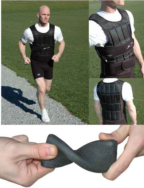 New 40 Lb Uni Vest Long Professional Weighted Vest