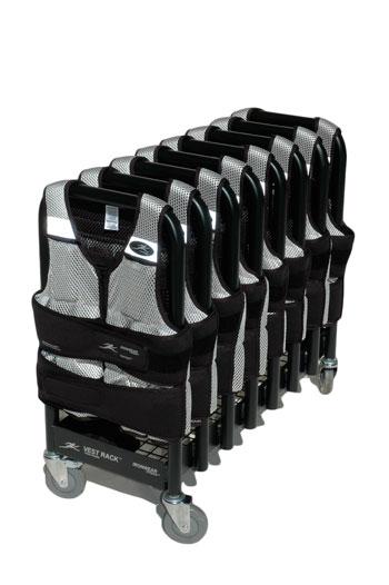 Vr8 Vest Rack Long Cool Vest Package Wheeled Storage