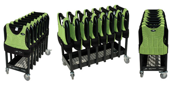 VR8 Vest Rack™ Wheeled Storage System For Weighted Gear And Extra Weights